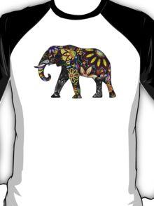 Aztec Elephant Black T-Shirt