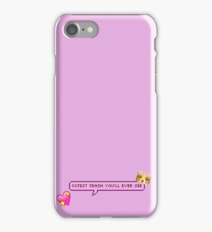 Cutest Trash You'll Ever See Pixel Chat Bubble iPhone Case/Skin
