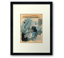 cloudy with a chance of rain Framed Print