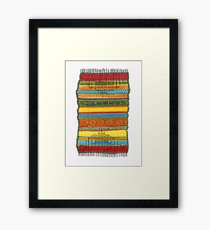 magic knee-rug Framed Print