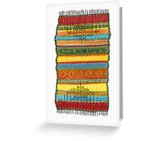 magic knee-rug Greeting Card