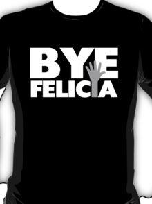 Bye Felicia Hand Wave Grey & White T-Shirt
