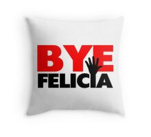 Bye Felicia Hand Wave Throw Pillow