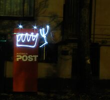 Postbox robot by Sarah Phillips Dean