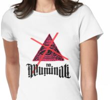 No Illuminati Pink Womens Fitted T-Shirt