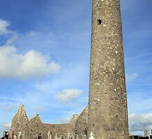 Kilmacduagh round tower 1 by John Quinn