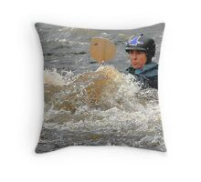 White Water Run Throw Pillow
