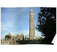 Kilmacduagh round tower 2 Poster
