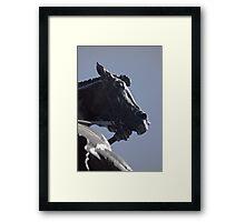 The Dragon Slayers Horse Framed Print