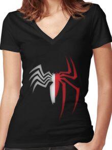 Spiderman/Venom Women's Fitted V-Neck T-Shirt