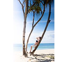 Woman On Holiday Photographic Print