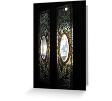 Windows to mystery Greeting Card