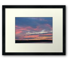 Blue Sunset At The Lake-Available As Art Prints-Mugs,Cases,Duvets,T Shirts,Stickers,etc Framed Print
