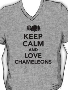 Keep calm and love chameleons T-Shirt