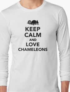 Keep calm and love chameleons Long Sleeve T-Shirt