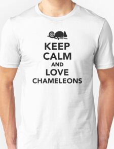 Keep calm and love chameleons Unisex T-Shirt