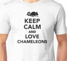 Keep calm and love chameleons Unisex T-Shirt