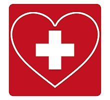 Get Well Soon, Doctor, Heart, First Aid, Swiss Army, Victorinox, Sexy Nurse Photographic Print