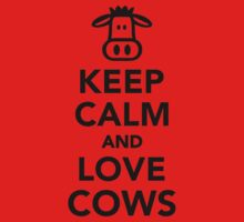 Keep calm and love cows One Piece - Short Sleeve