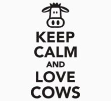 Keep calm and love cows Kids Clothes