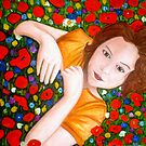 "Beautiful ""Poppy"" Girl by Belinda ""BillyLee"" NYE (Printmaker)"