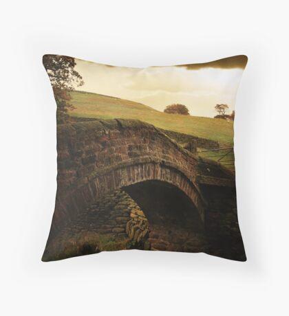 Close Gate Bridge  Throw Pillow