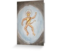 Errol Trapped in Outer Space Greeting Card