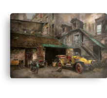 Car - Cour, Rue de Valencemm France - A Sunday afternoon - 1925 Metal Print