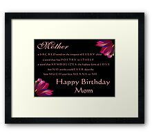 a Mother is... Framed Print