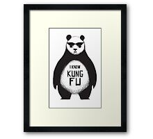 I know Kung Fu Framed Print