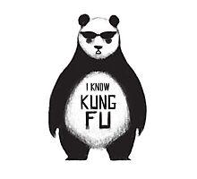 I know Kung Fu Photographic Print