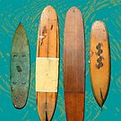 Old Surf Boards for Old Hippies, vintage, retro. by Leonie Mac Lean