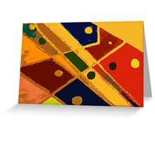 Retro Abstract Art Golden Greeting Card