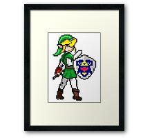 Legend of Zelda - Link Pokemon Trainer Pixel Framed Print