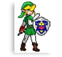 Legend of Zelda - Link Pokemon Trainer Pixel Canvas Print