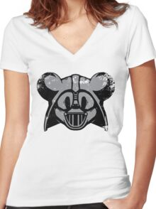 Vader Mouse Women's Fitted V-Neck T-Shirt