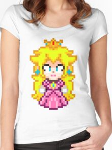 Princess Peach - Smash Bros Mini Pixel Women's Fitted Scoop T-Shirt