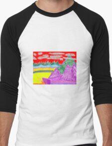 Purple Grass Men's Baseball ¾ T-Shirt