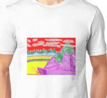 Purple Grass Unisex T-Shirt