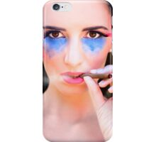 Woman Smoking Cigar iPhone Case/Skin