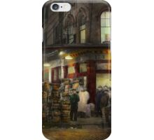 City - NY - Washington Street Market, buying at night - 1952 iPhone Case/Skin