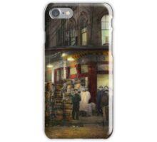 City - NY - Washington Street Market, buying at night - 1952 iPhone Case/Skin