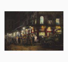 City - NY - Washington Street Market, buying at night - 1952 Kids Clothes