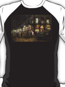City - NY - Washington Street Market, buying at night - 1952 T-Shirt