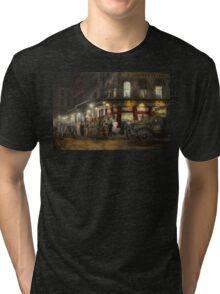 City - NY - Washington Street Market, buying at night - 1952 Tri-blend T-Shirt