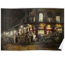City - NY - Washington Street Market, buying at night - 1952 Poster