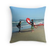 Beach Kite Throw Pillow