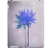 Touch of Shimmer Blue Flower Art iPad Case/Skin