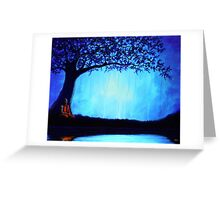 Blue Monk Greeting Card