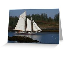 Schooner Lewis R French Greeting Card